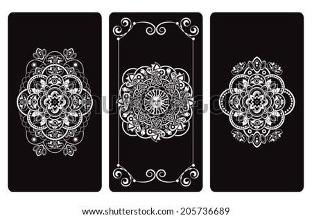 Vector illustration  design for Tarot cards - stock vector