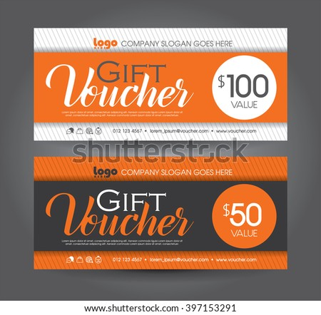 Vector illustration. Discount voucher template with clean and modern pattern - stock vector