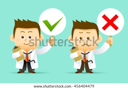 Vector illustration Doctor Character