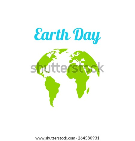 Vector illustration. Earth Day. Logo blue planet isolated on white background. Ecology.