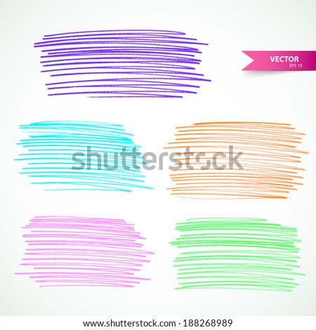 Vector illustration (eps 10) of Markers set - stock vector