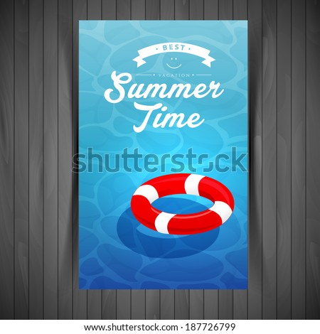Vector illustration (eps 10) of Red lifebuoy  - stock vector
