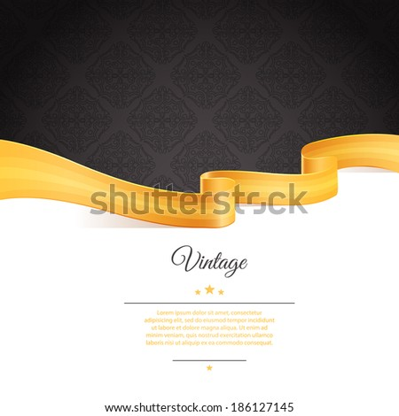 Vector illustration (eps 10) of Vintage template - stock vector
