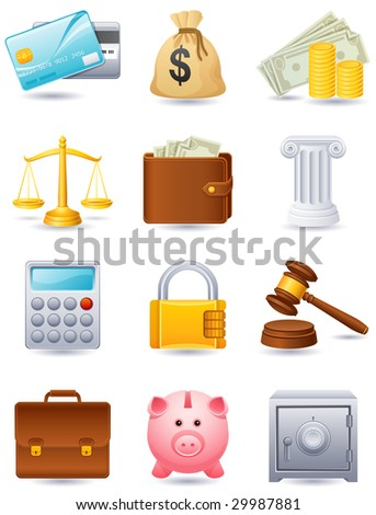 Vector illustration - Finance icon set - stock vector