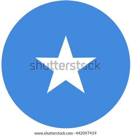 Vector illustration flag of Somalia icon. Round national flag of Somalia. Somalia flag button - stock vector