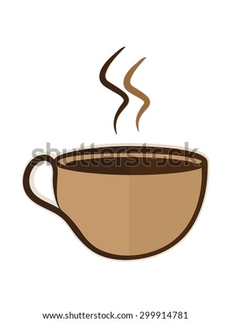 vector illustration flat coffee cup logo business icon design isolated element