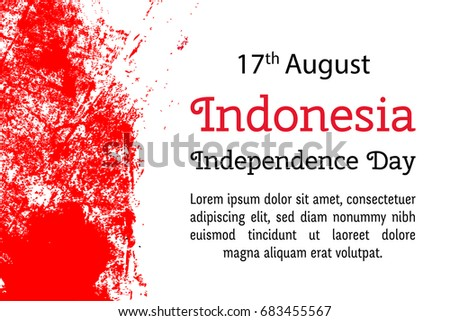 Vector illustration 17 august indonesia independence stock vector hd vector illustration for 17 august indonesia independence day in grunge style design template for poster m4hsunfo