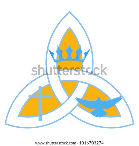 Vector Illustration Christian Community Holy Trinity Stock Vector