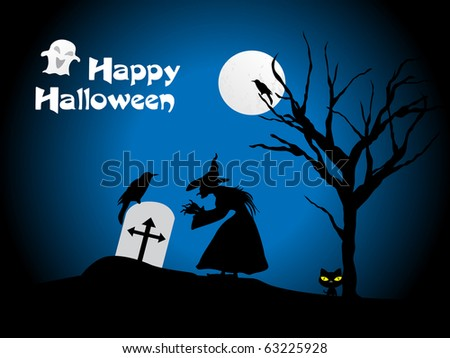 vector illustration for halloween celebration - stock vector