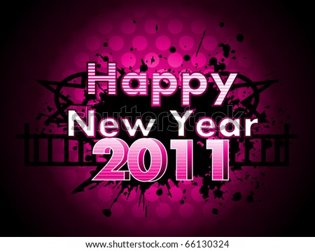 vector illustration for new year 2011