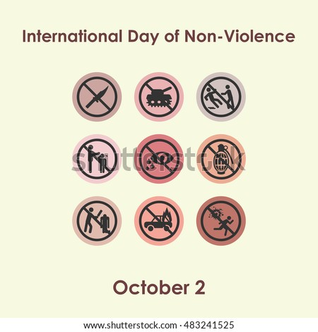 vector illustration for Non violence day in october