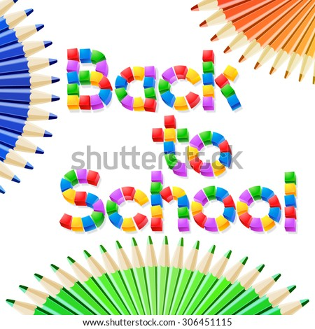 Vector illustration for school, study, education themes - stock vector