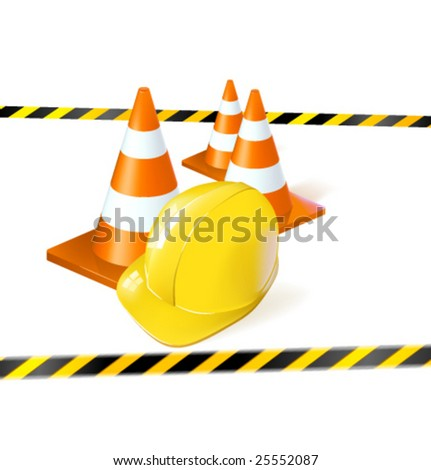 Vector illustration for site under construction - stock vector