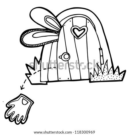 Vector illustration for tale Alice in Wonderland - stock vector