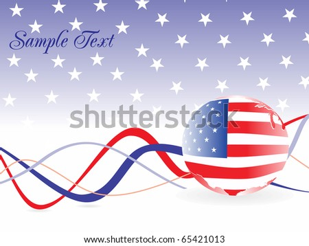 vector illustration for us background - stock vector