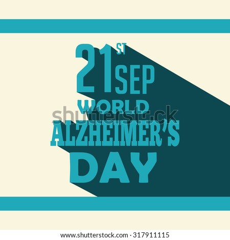 Vector illustration for World Alzheimer's day, September 21. Fight Alzheimer's Disease.