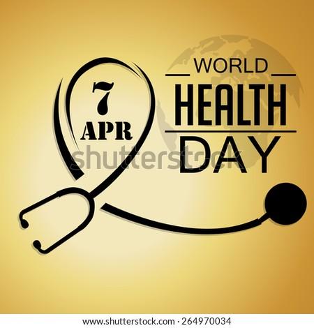 Vector Illustration For World Health Day