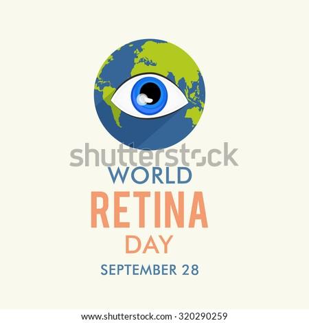 Vector illustration for World Retina Day Background. - stock vector