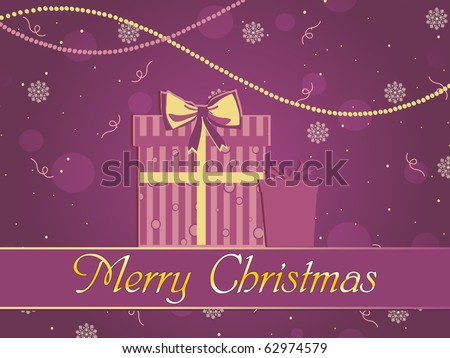 vector illustration for xmas celebration - stock vector