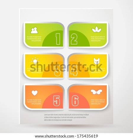 Vector illustration for your business presentations.  - stock vector