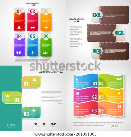 Vector illustration for your business presentations. Modern Design template / can be used for infographics / numbered banners / horizontal cutout lines / graphic or website layout vector. EPS10. - stock vector