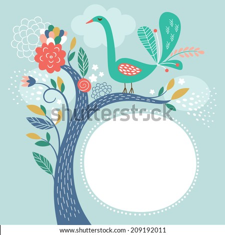 vector illustration,  frame with place for your text - stock vector