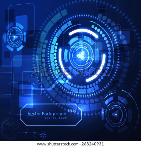 Vector illustration futuristic  technology background.