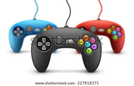 Vector illustration. Gamepad concept with the effect of blurring. - stock vector