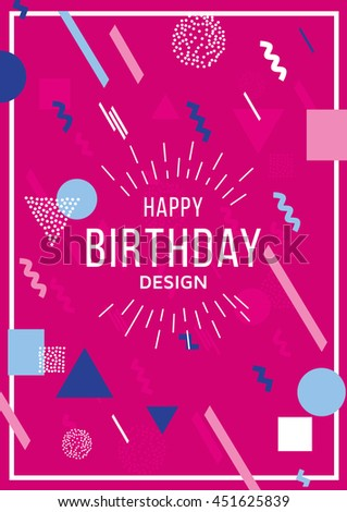 vector illustration geometric background for holidays and party birthday art deco colorful