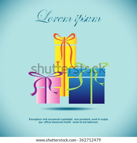 Vector illustration gift boxes with ribbon - stock vector