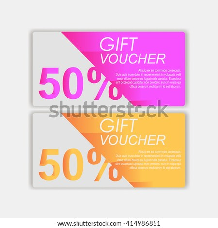 Voucher Template Gift Sale Voucher Certificate Stock Vector