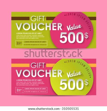 Gift Voucher Modern Template Vector 373593694 Shutterstock – Template for a Voucher