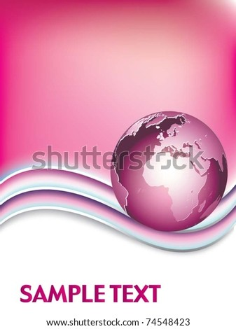 vector illustration global network the internet - stock vector