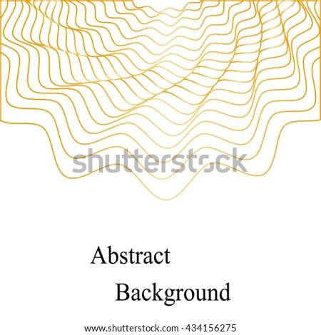 Vector Illustration.Golden Waves Pattern. Template for Visiting Cards, Labels, Fliers, Banners, Badges, Posters, Stickers and Advertising Actions.Geometric Abstract Background - stock vector
