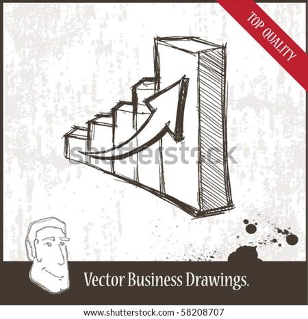 Vector illustration. Graph. - stock vector