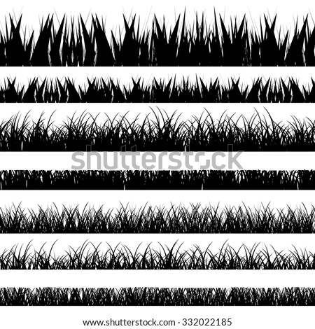 Vector illustration. Grass set. Nature.