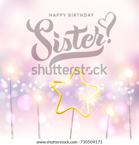 Vector illustration happy birthday sister typography vector stock happy birthday sister typography vector design for greeting cards and poster with bengal m4hsunfo