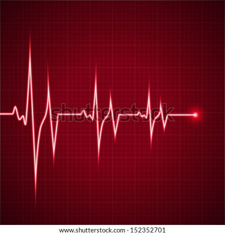 Vector Illustration heart rhythm ekg - stock vector
