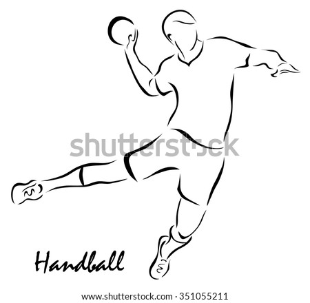 Vector illustration. Illustration shows a kind of sport. Handball