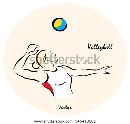 Vector illustration. Illustration shows a Summer Olympic Sports. Volleyball?