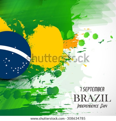 Vector Illustration Independence Day of Brazil. - stock vector