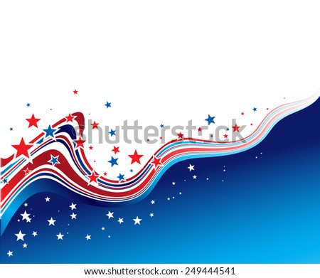 Vector illustration Independence Day patriotic background star pattern - stock vector
