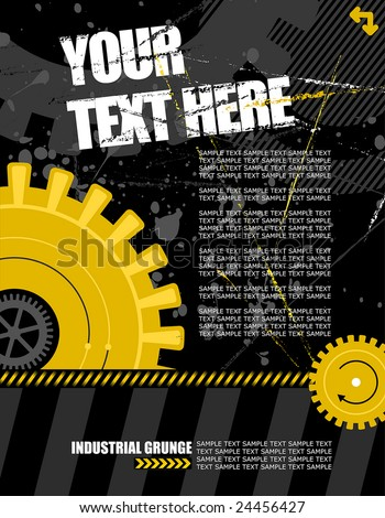 vector illustration - industrial background with plenty of copy space for your text - stock vector