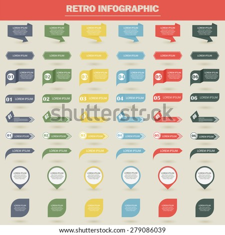 Vector illustration infographics chalked - stock vector