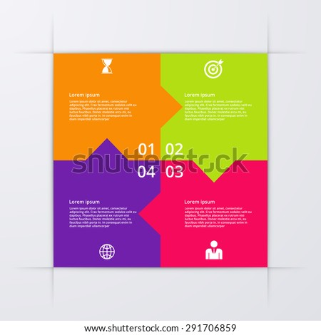 Vector illustration infographics four options. - stock vector