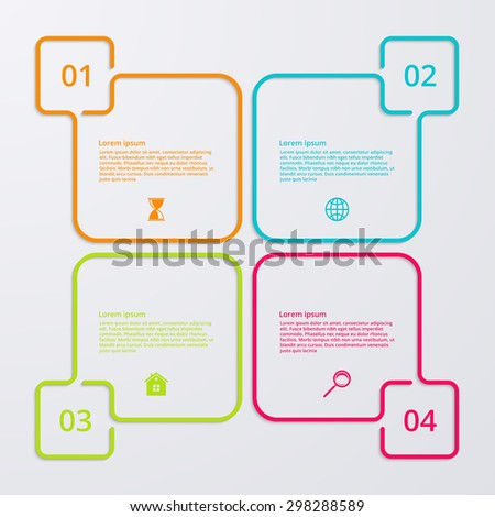 Vector illustration infographics four options - stock vector