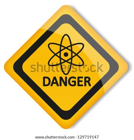 Vector Illustration Label Gamma Radiation Stock Vector 129719147