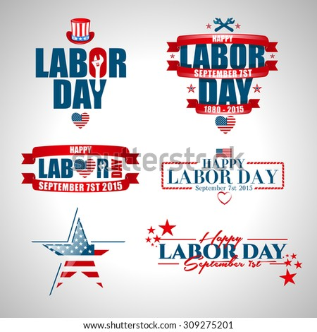 vector illustration Labor Day a national holiday of the United States love of the homeland and traditions of its people - stock vector