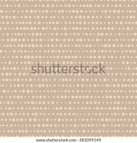 vector illustration - light beige abstract dotted and lined seamless pattern
