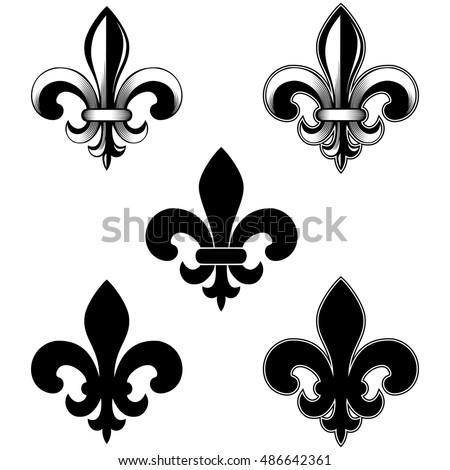 Fleur de lis stock images royalty free images vectors shutterstock - Fleur de lys symbole ...